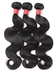 натуральный цвет европейские виргинские волосы ткут необработанные волосы для волос с волнами 3 штуки 10inch-22inch