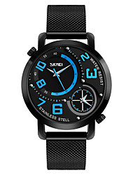 cheap -SKMEI Men's Quartz Wrist Watch Japanese Water Resistant / Water Proof / Creative / Cool / Dual Time Zones Stainless Steel Band Luxury /