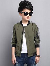 Boys' Stripe Jacket & Coat,Polyester Fall Winter