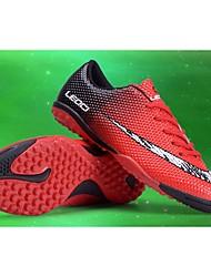 Para Meninos sapatos Couro Ecológico Primavera Outono Conforto Tênis Futebol Cadarço Para Atlético Casual Laranja Preto/Vermelho Black /
