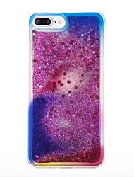 economico -Per iPhone X iPhone 8 Custodie cover Liquido a cascata Custodia posteriore Custodia Glitterato Morbido TPU per Apple iPhone X iPhone 8