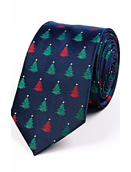 cheap -Men's Polyester Neck Tie,Pattern Jacquard All Seasons