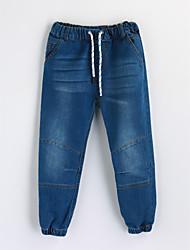 Pantaloni Da ragazzo Cotone Tinta unita Autunno