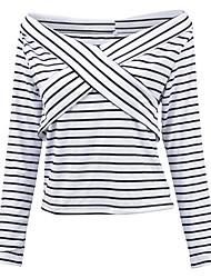 economico -T-shirt Da donna Per uscire Vintage Tinta unita Rotonda Altro Manica lunga