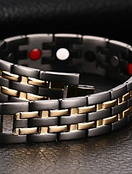 Недорогие -Муж. Браслеты-цепочки и звенья Браслет цельное кольцо Природа Мода Equilibrio Титановая сталь Браслет Ювелирные изделия Черный Назначение Подарок Повседневные