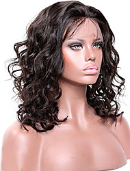 cheap -Remy Human Hair Lace Front Wig / Glueless Lace Front Wig Brazilian Hair Wavy 130% / 150% / 180% Density With Baby Hair / Natural Hairline / Unprocessed Women's Medium Length / Long Human Hair Lace Wig