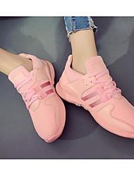 Недорогие -Для женщин Обувь Полотно Весна Лето Удобная обувь Кеды Назначение Повседневные Белый Черный Розовый