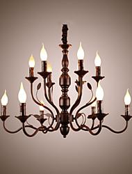 abordables -lámpara de techo doble lámpara de sala de estar simple originalidad lámpara iluminación del salón