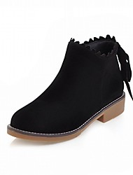 Women's Boots Comfort Novelty Bootie Fall Winter Leatherette Casual Office & Career Tassel Chunky Heel Dark Brown Light Brown Beige Black