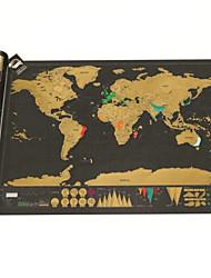 Недорогие -Карта царапин Сцарапать карту мира для путешественников Игрушки Квадратный Взрослые 1 Куски