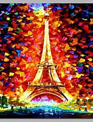 cheap -Eiffel Wall Decor Hand Painted Contemporary Oil Paintings Modern Artwork Wall Art