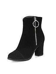 Women's Shoes Nubuck leather Leatherette Fall Winter Fashion Boots Bootie Boots Chunky Heel Round Toe Booties/Ankle Boots Split Joint