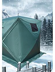 Недорогие -4 человека Рыболовная палатка На открытом воздухе С защитой от ветра Водонепроницаемая молния Однослойный Палатка 1000-1500 mm для ПВХ Покрытие 180*180*205 cm