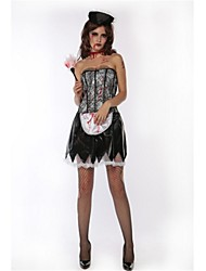 cheap -Bloody Mary Cosplay Costume Halloween Day of the Dead Festival / Holiday Halloween Costumes Black Fashion