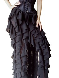cheap -Women's Daily Going out Holiday Asymmetrical Skirts,Vintage Sexy Street chic Swing Cotton Solid All Seasons