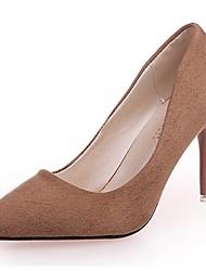 preiswerte -Damen Schuhe Wildleder Herbst Pumps High Heels Stöckelabsatz Spitze Zehe Kombination Für Normal Schwarz Braun Rot Rosa Khaki