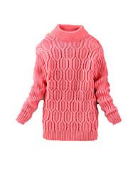 Mädchen Pullover & Cardigan-Lässig/Alltäglich einfarbig Wolle Winter Schwarz / Rosa / Rot / Grau