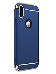 Para iPhone X iPhone 8 iPhone 8 Plus iPhone 7 Case Tampa Galvanizado Capa Traseira Capinha Côr Sólida Rígida PC para Apple iPhone X
