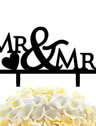 bastone acrilico bastone amore mr&decorazione della torta nuziale di mrs