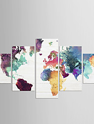 cheap -Stretched Canvas Print Five Panels Canvas Any Shape Print Wall Decor Home Decoration