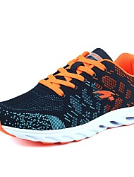 Men's Athletic Shoes Comfort Spring Fall Breathable Mesh Walking Shoes Casual Outdoor Lace-up Black/Red Gray Flat