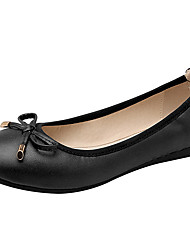 Недорогие -Для женщин Обувь Наппа Leather Полиуретан Весна Лето Балетки Светодиодные подошвы На плокой подошве На плоской подошве Круглый носок