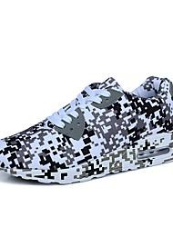 Недорогие -Для мужчин обувь Полиуретан Синтетика Материал на заказ клиента Весна Осень Удобная обувь Светодиодные подошвы Кеды Для фитнеса Шнуровка