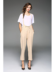 cheap -Women's Loose / Overalls Pants - Solid Colored High Rise / Spring