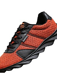 cheap -Men's Shoes Tulle Spring Fall Light Soles Athletic Shoes Walking Shoes Lace-up for Athletic Black Orange Gray Green