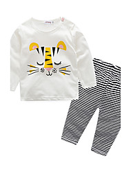 Baby Kids' Indoor Stripe Animal Sleepwear,Stripes Spring/Fall