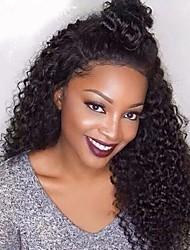Kinky Curly Lace Front Wigs Brazilian Human Hair Wigs For Women Virgin Hair Wigs With Baby Hair