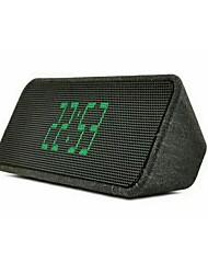 jy-37 Affichage de l'heure Bluetooth 3.0 3,5mm Enceinte de Bibliothèque Or Noir