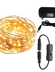 cheap -10m String Lights 100 LEDs Warm White / White / Red 100-240 V 1set / IP65