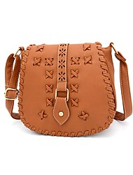 cheap -Women's Bags PU Crossbody Bag Sashes / Ribbons Maroon / Brown / Khaki