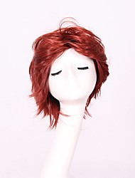 economico -Donna Parrucche sintetiche Senza tappo Pantaloncini Ondulati Lisci Rosso Parrucca Cosplay Parrucca naturale Parrucca per festa Parrucca
