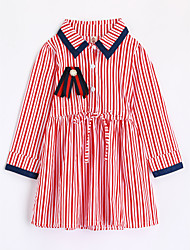 cheap -Girls' Stripe Shirt,Cotton Fall Long Sleeve Red