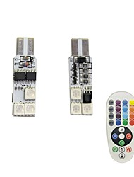 cheap -1Set 1.5W T10 6SMD5050 RGB LED Remote Control Car Lamp DC12V