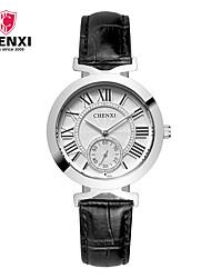 CHENXI® Dámské Hodinky k šatům Módní hodinky japonština Křemenný Kůže Kapela Přívěsek Cool Běžné nošení Luxusní Černá Červená Fialová