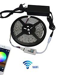 jiawen 5m voděodolný ip65 rgbw inteligentní domácí wi-fi led pásy světla ac100-240v
