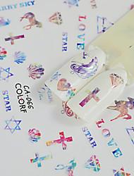 abordables -1pcs Motif Accessoires Décoration artistique / Rétro Autocollants 3D pour ongles Autocollant Produits DIY Dessin-Animé Modèle d'estampage