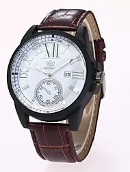 Men's Dress Watch Fashion Watch Wrist watch Chinese Quartz PU Band Casual Black Brown