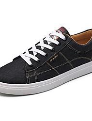 Homme Chaussures Polyuréthane Automne Confort Basket Lacet Pour Décontracté Noir et Or Noir/blanc Noir/Rouge