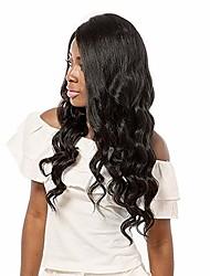 preiswerte -Remi-Haar Spitzenfront Perücke Brasilianisches Haar Wellen 100% Jungfrau Afro-amerikanische Perücke Kurz Lang Mittellang 130% Dichte Damen