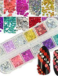 cheap -1 Glitter Art Deco/Retro Nail Jewelry Parts Accessories DIY Supplies Flash 3-D Glitters Artistic Fashionable Jewelry Round Luxury