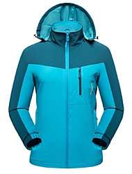 cheap -Women's Hiking Jacket Outdoor Winter Windproof Wearable Breathability Stretchy Winter Jacket Top Full Length Visible Zipper Camping /