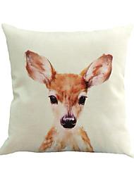 1 pcs mignon jeune chevreuil animal oreiller couverture 45 * 45 cm nouveauté animaux motif taie d'oreiller
