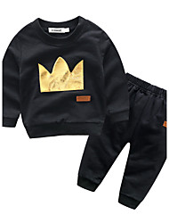 cheap -Baby Boys' Cotton Daily Patchwork Clothing Set Autumn/Fall