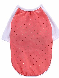 cheap -Dog Shirt / T-Shirt Vest Dog Clothes Crystal/Rhinestone Red Pink Chiffon Costume For Pets Men's Women's Party Casual/Daily Holiday