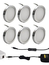 cheap -ONDENN 1set 2W 1800lm 18pcs LEDs Decorative Under Cabinet Lights Warm White Cold White 85-265V Cabinet Ceiling Drawer Showcase Wall