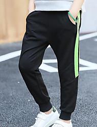 cheap -Boys' Stripe Pants Winter Fall Green White